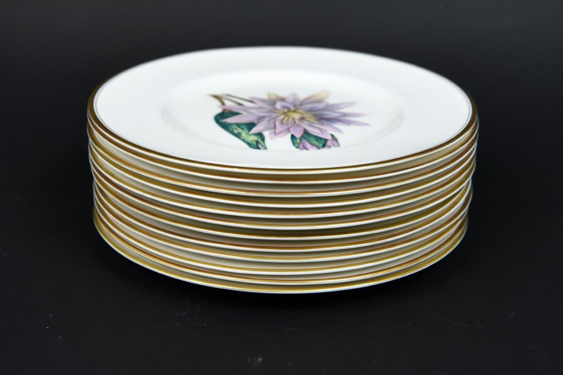 SET OF 12 ROYAL WORCESTER FLORAL PLATES