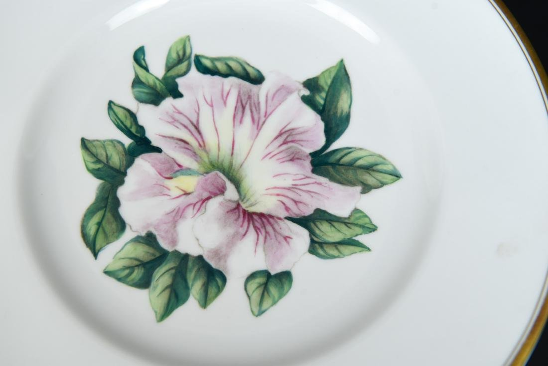 SET OF 12 ROYAL WORCESTER FLORAL PLATES - 5