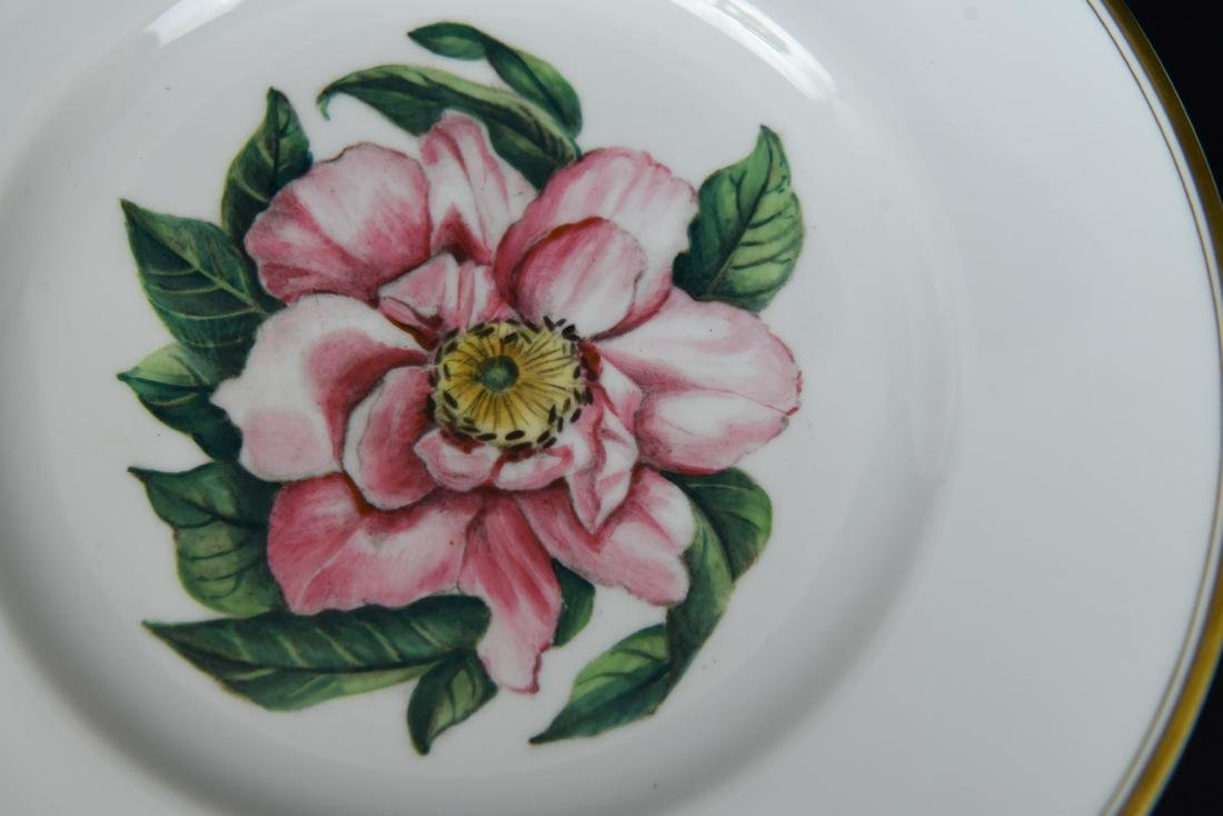 SET OF 12 ROYAL WORCESTER FLORAL PLATES - 6