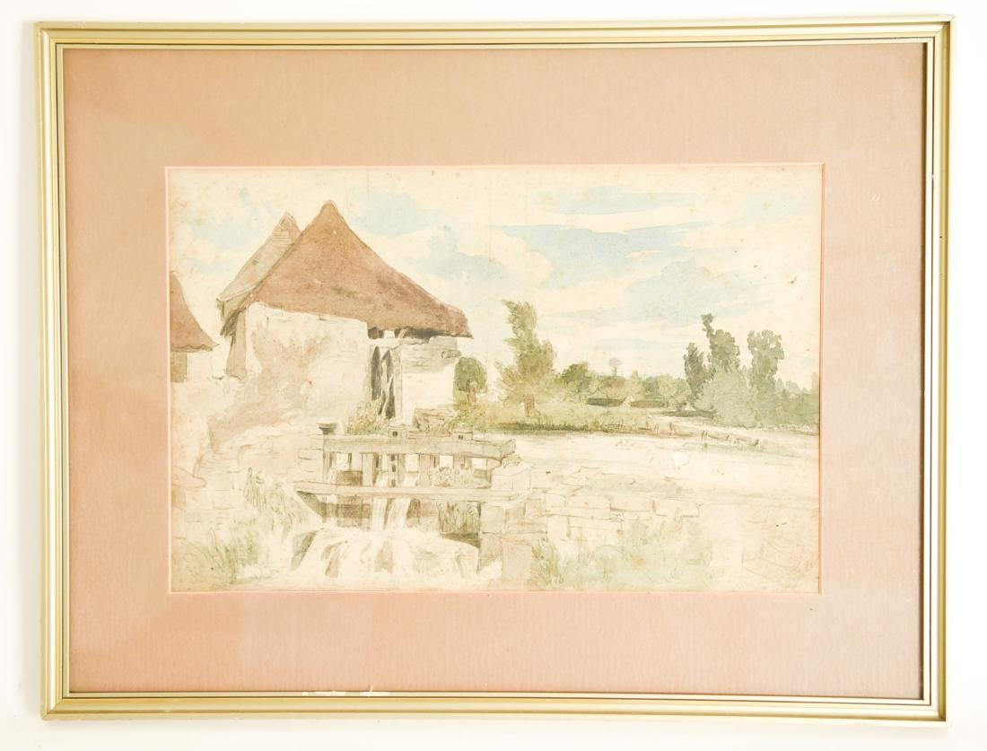 19TH CENTURY WATERCOLOR OF MILL