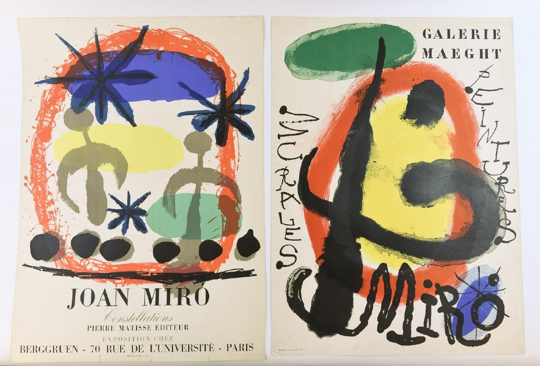 AFTER JOAN MIRO (SPAIN 1893-1983) TWO EXHIBITION