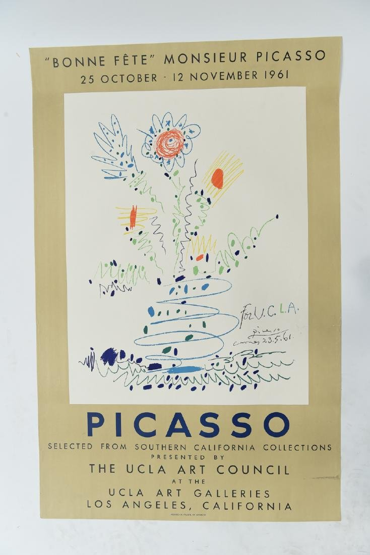 PICASSO LITHOGRAPH 1961 UCLA