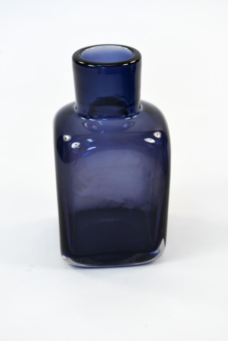 CARLO SCARPA FOR VENINI CLOSE MOUTH GLASS VASE