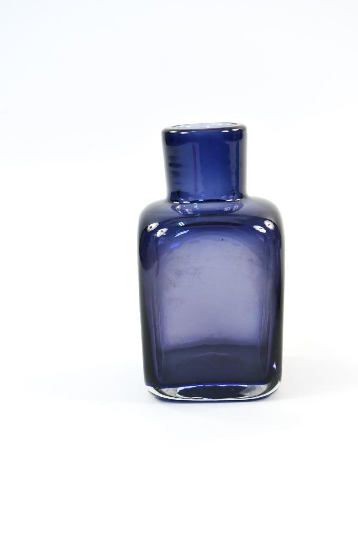 CARLO SCARPA FOR VENINI CLOSE MOUTH GLASS VASE - 2