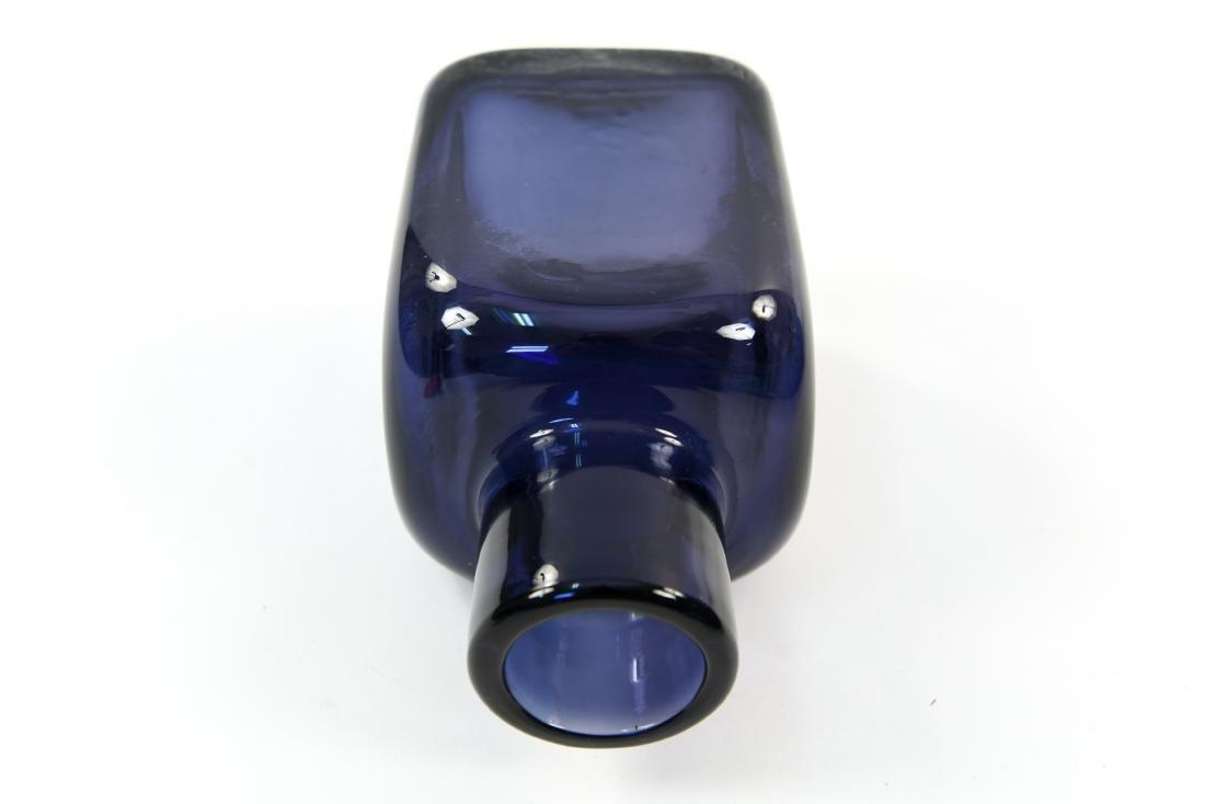 CARLO SCARPA FOR VENINI CLOSE MOUTH GLASS VASE - 8