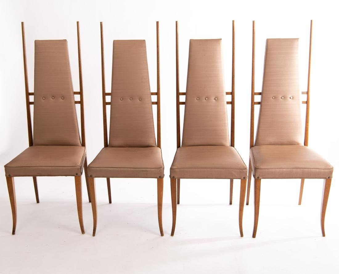 (4) GIO PONTI STYLE SIDE CHAIRS