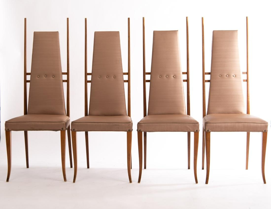 (4) GIO PONTI STYLE SIDE CHAIRS - 2