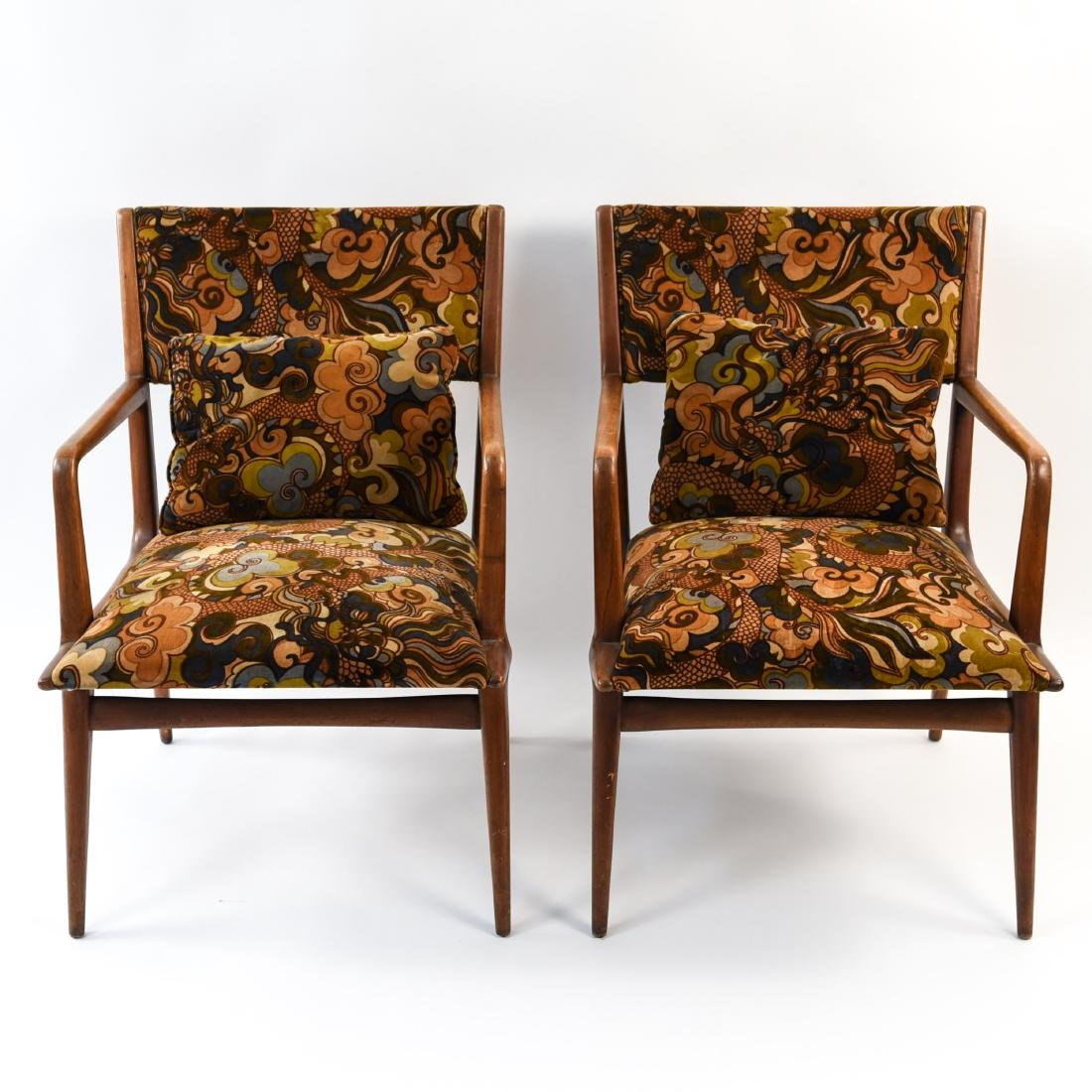 PAIR OF MID-CENTURY LOUNGE CHAIRS
