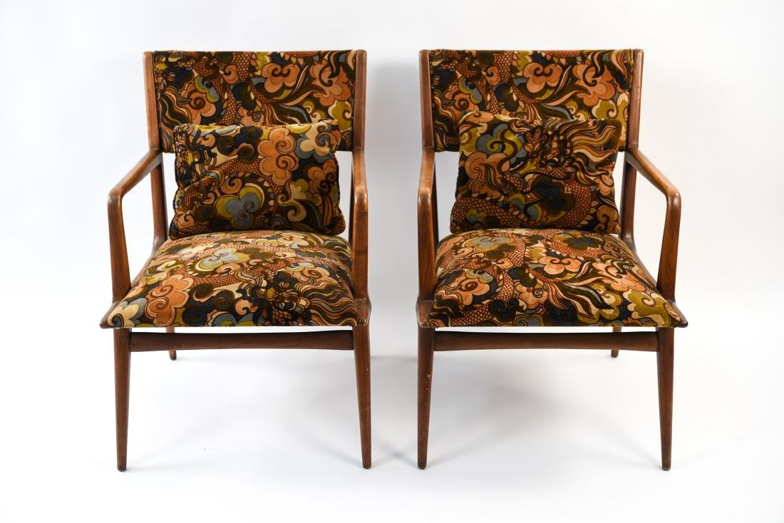 PAIR OF MID-CENTURY LOUNGE CHAIRS - 2