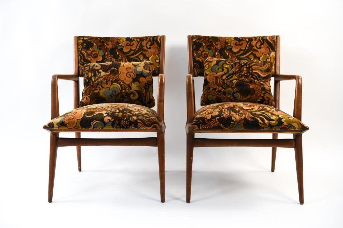 PAIR OF MID-CENTURY LOUNGE CHAIRS - 3