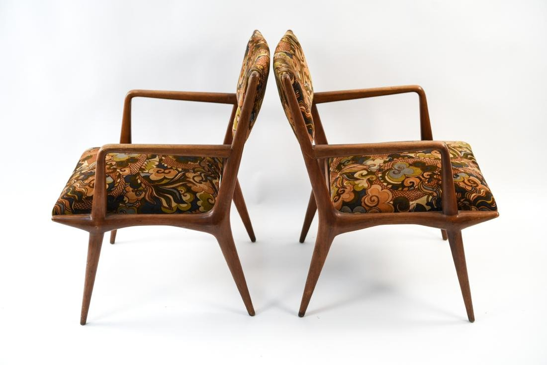 PAIR OF MID-CENTURY LOUNGE CHAIRS - 9