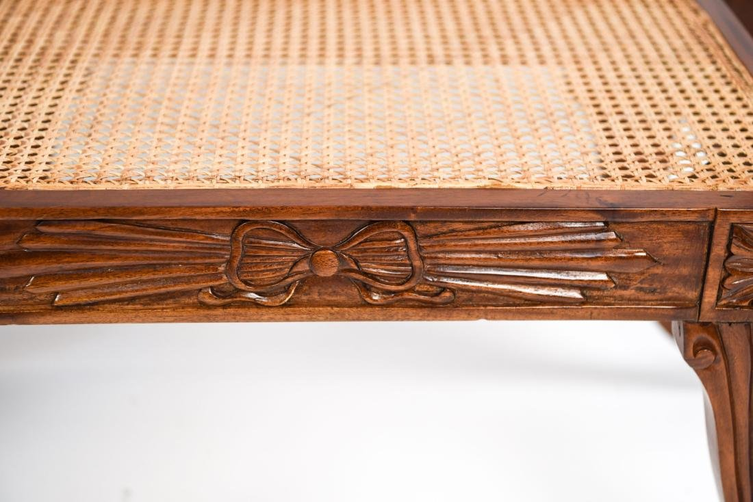 PAIR OF REGENGY STYLE CANE SEAT BENCHES - 13