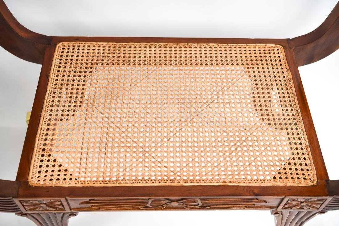 PAIR OF REGENGY STYLE CANE SEAT BENCHES - 16