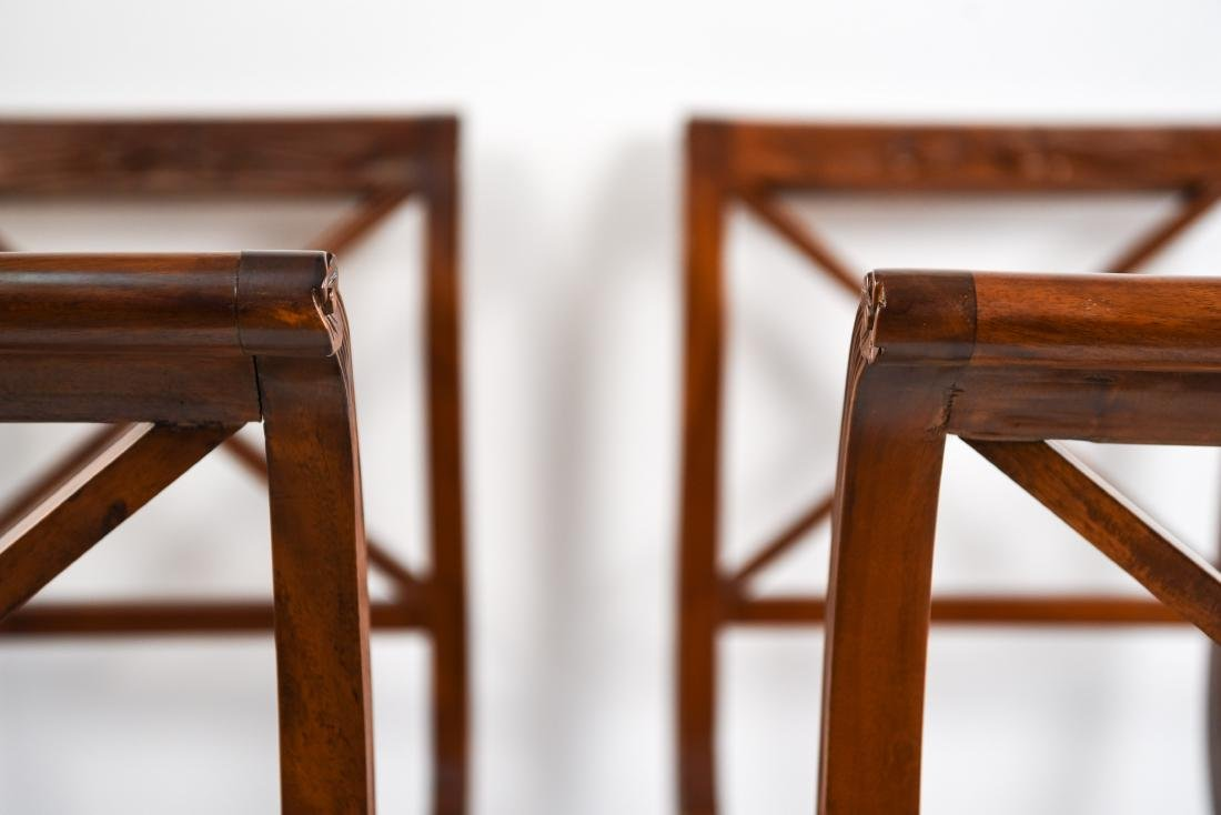 PAIR OF REGENGY STYLE CANE SEAT BENCHES - 19
