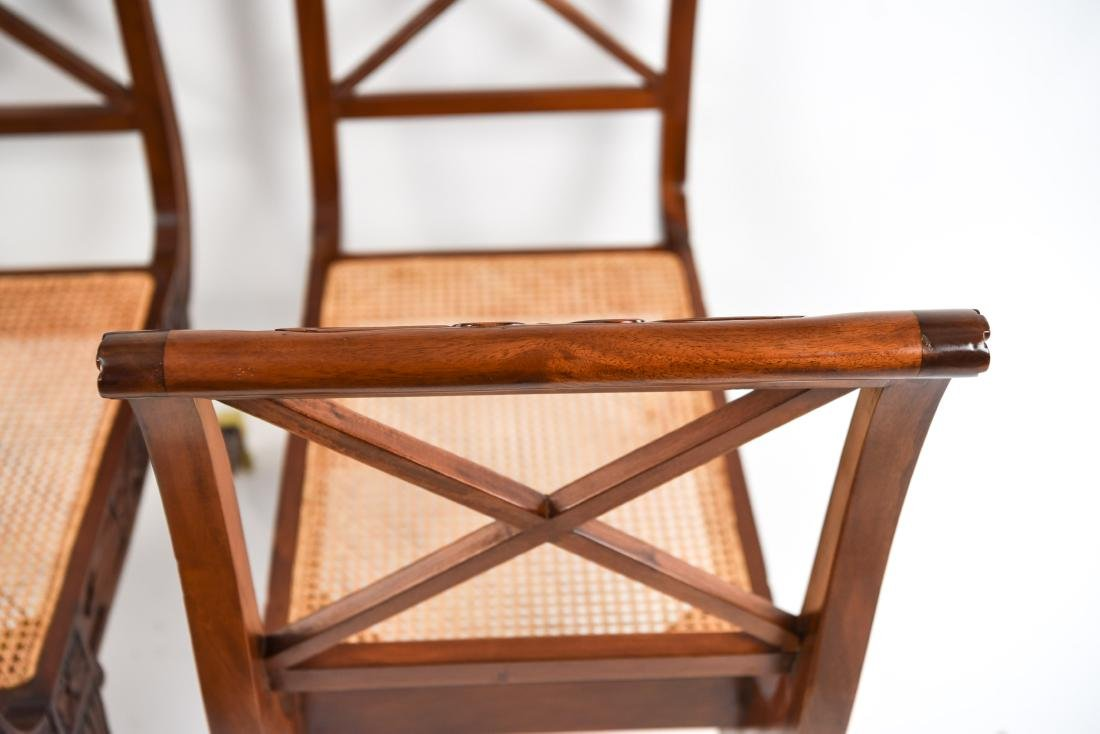PAIR OF REGENGY STYLE CANE SEAT BENCHES - 20