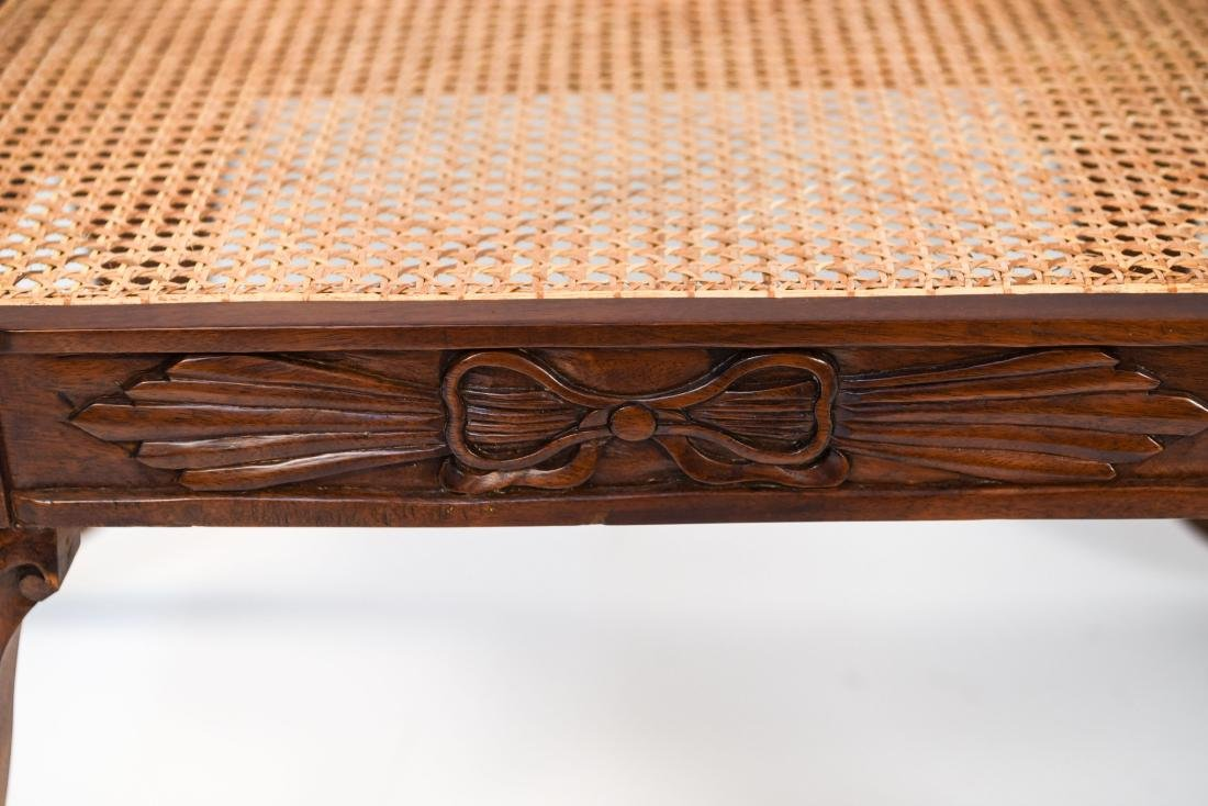 PAIR OF REGENGY STYLE CANE SEAT BENCHES - 9