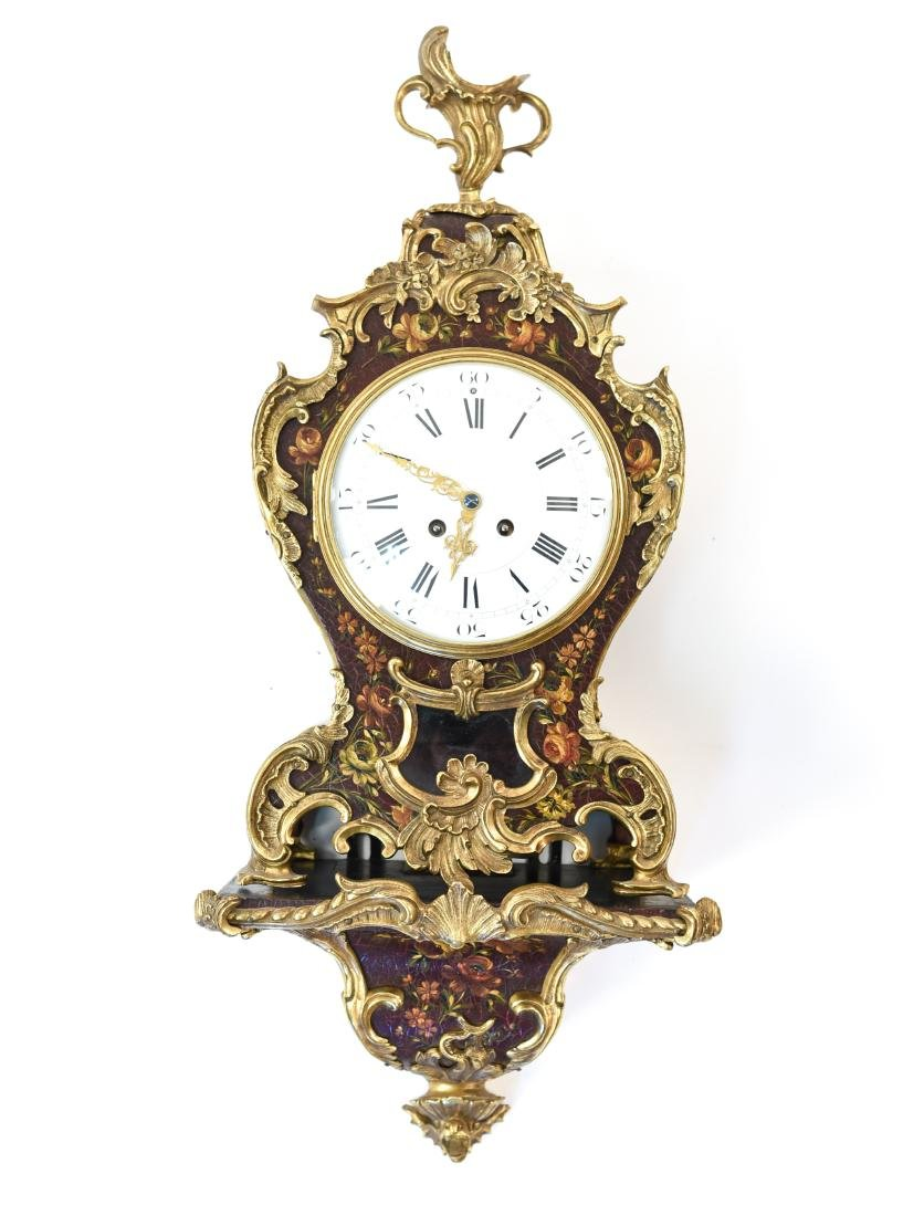 FRENCH BOULE SHELF CLOCK