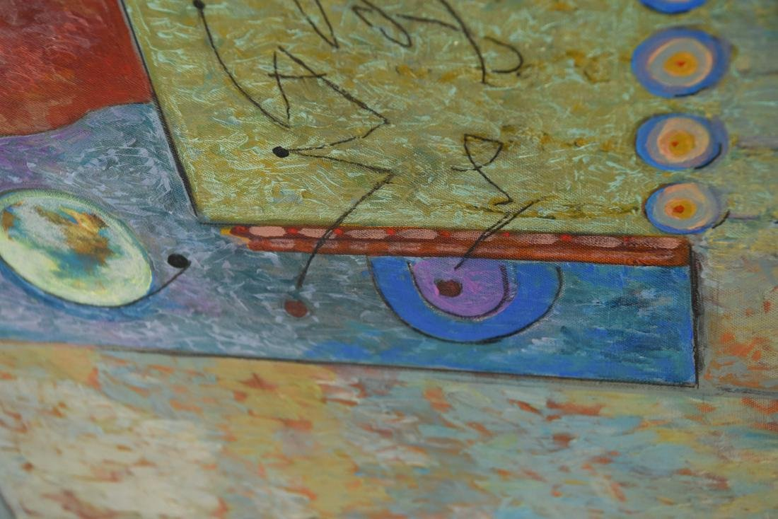 MID-CENTURY ABSTRACT O/C PAINTING - 7