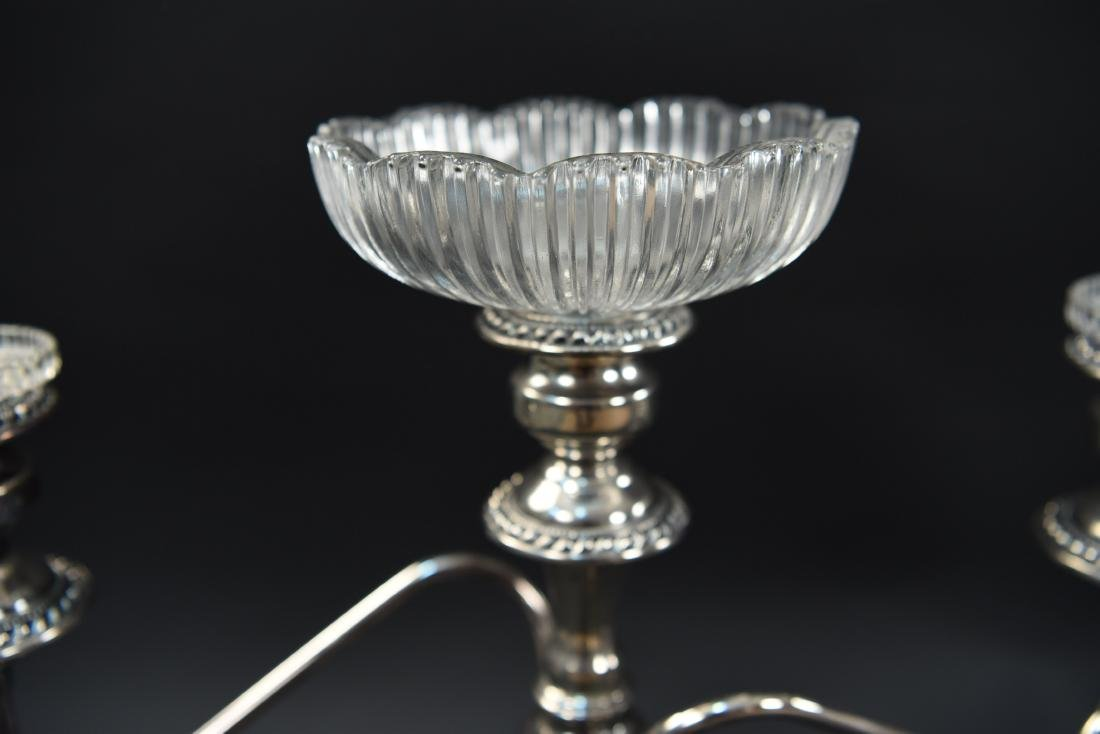 PAIR OF SILVER PLATE CANDLEABRAS - 5
