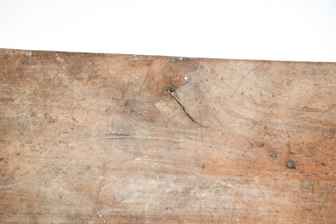 ANTIQUE 19TH C. NARROW SLIM BENCH - 10