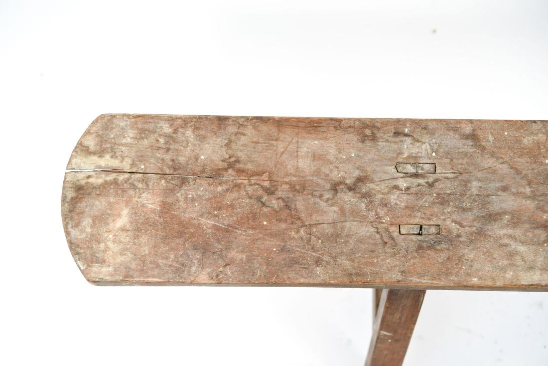 ANTIQUE 19TH C. NARROW SLIM BENCH - 3