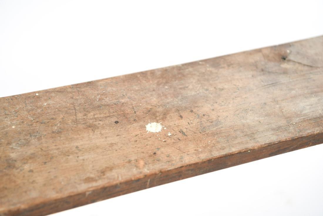 ANTIQUE 19TH C. NARROW SLIM BENCH - 5