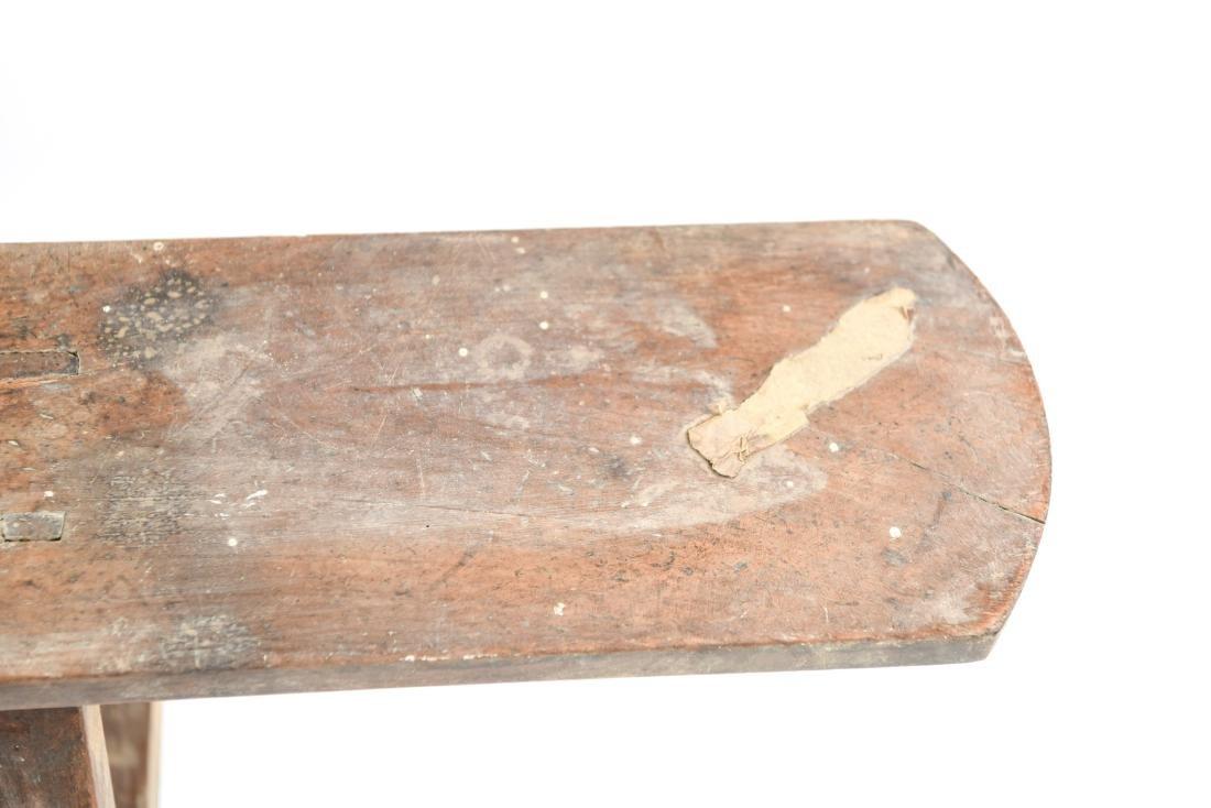 ANTIQUE 19TH C. NARROW SLIM BENCH - 7