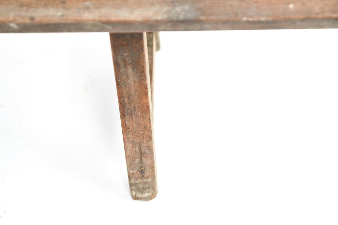 ANTIQUE 19TH C. NARROW SLIM BENCH - 8