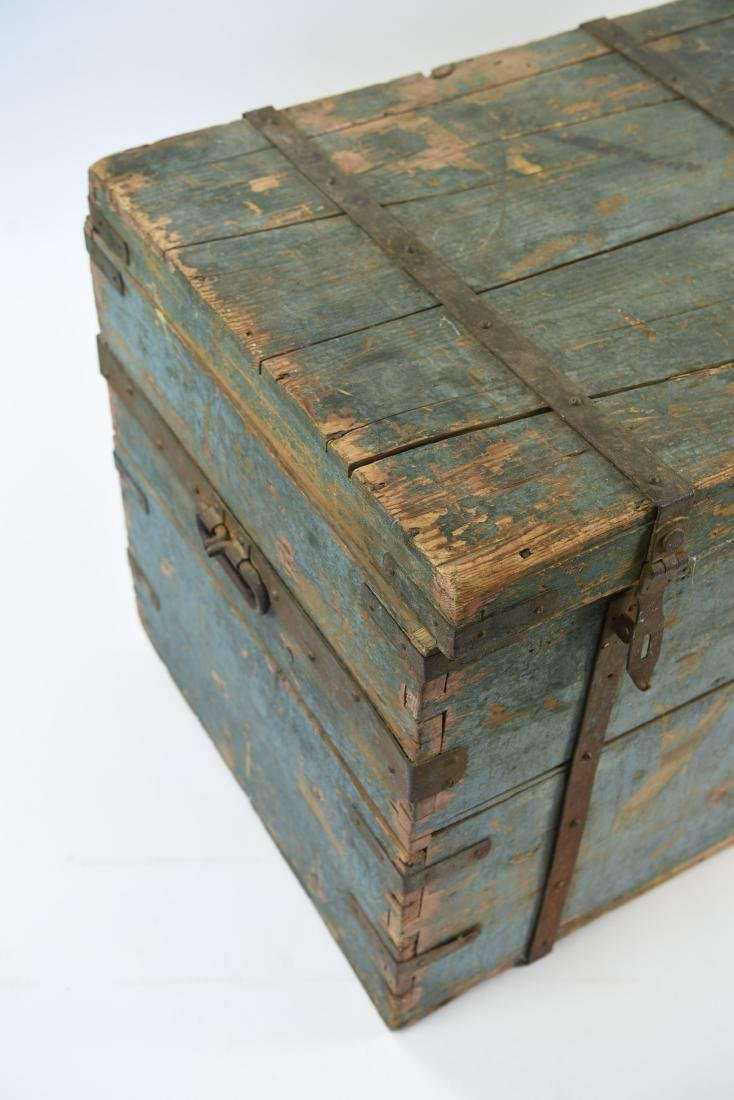 ROBINS EGG BLUE DOVETAILED IMMIGRANTS CHEST - 4