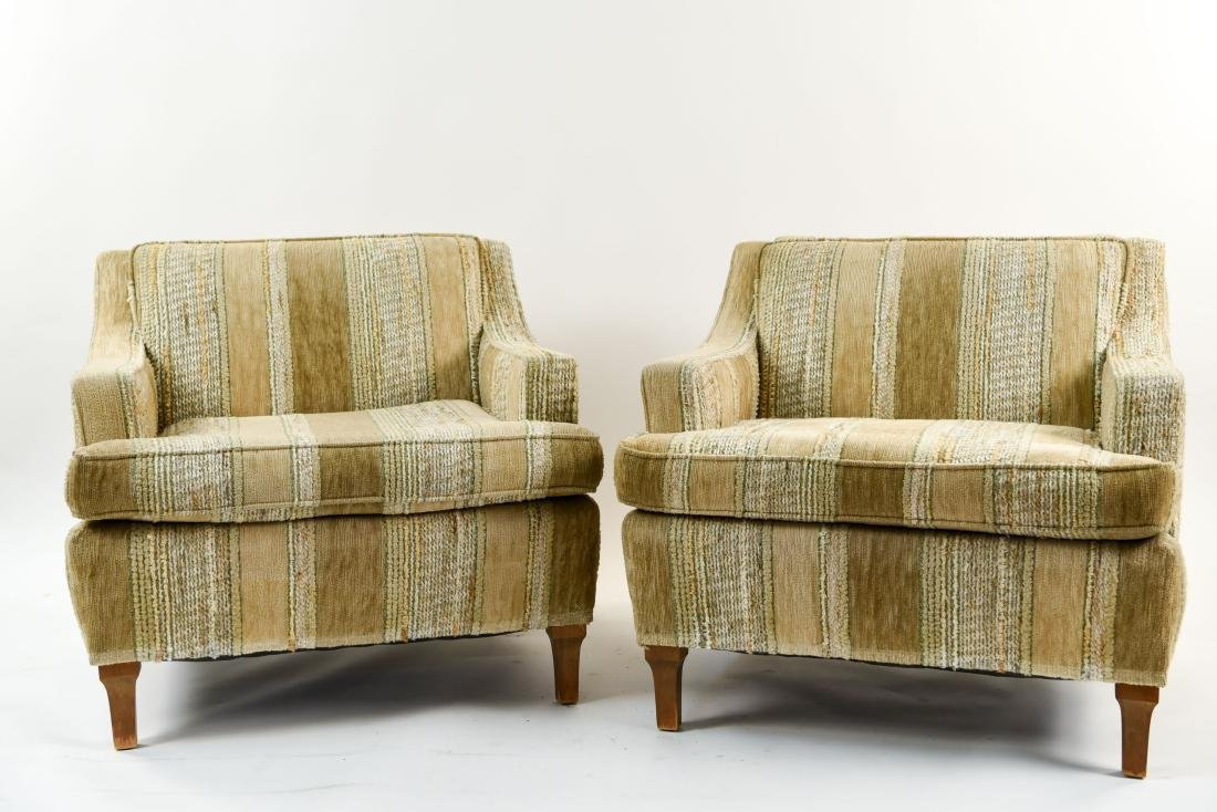 MID-CENTURY UPHOLSTERED LOUNGE CHAIRS