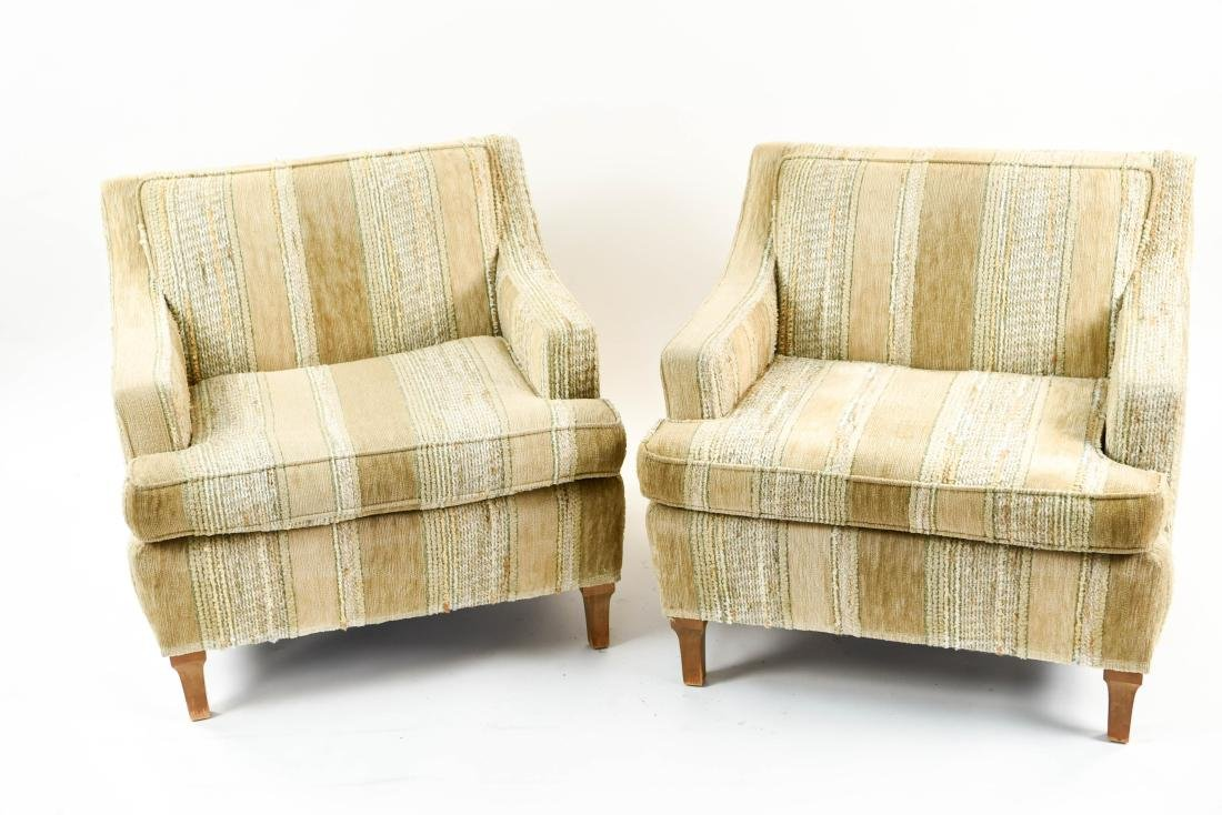 MID-CENTURY UPHOLSTERED LOUNGE CHAIRS - 2