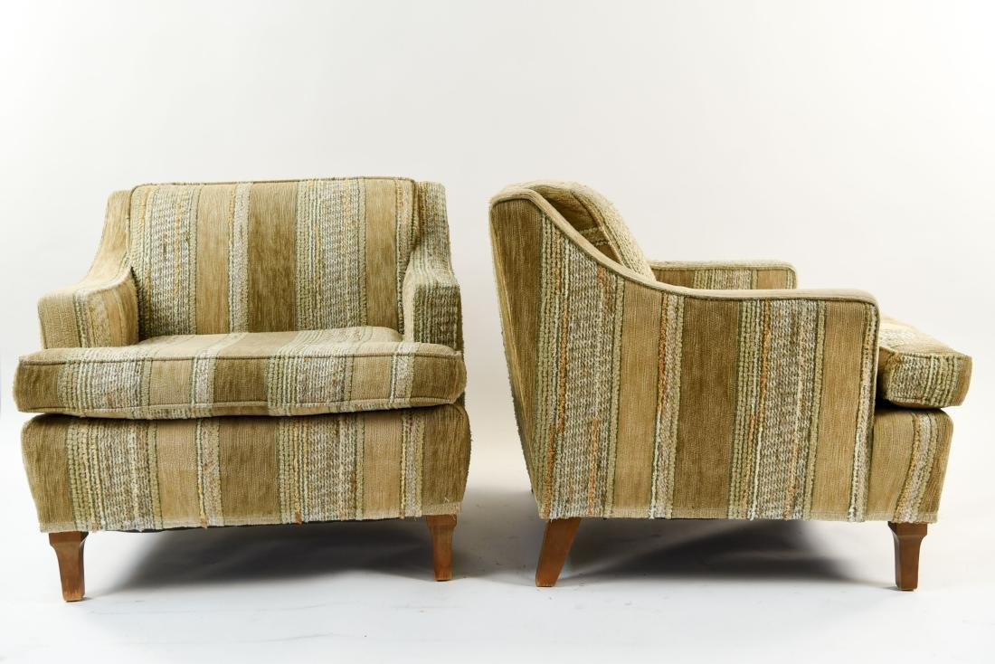 MID-CENTURY UPHOLSTERED LOUNGE CHAIRS - 5