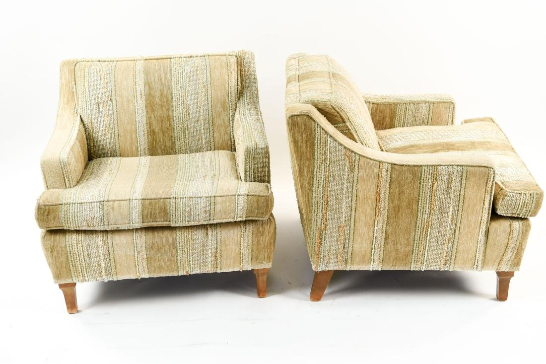 MID-CENTURY UPHOLSTERED LOUNGE CHAIRS - 6