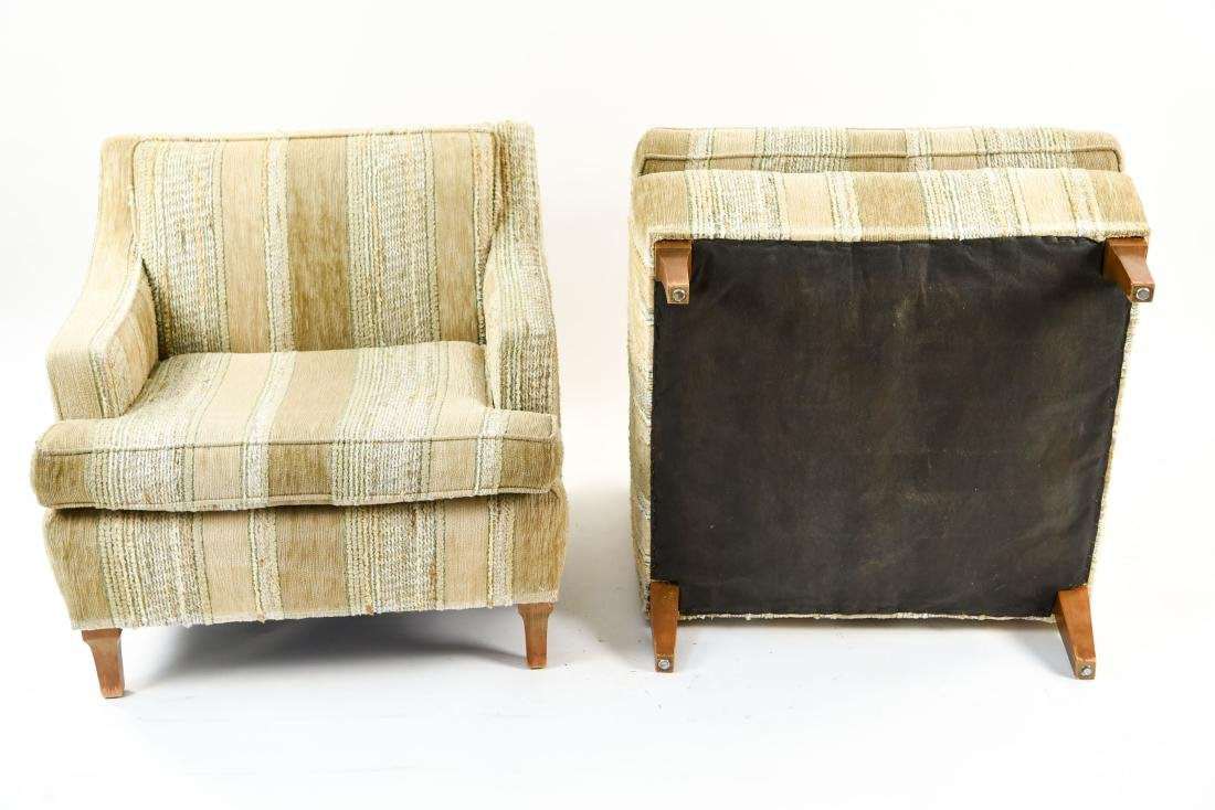 MID-CENTURY UPHOLSTERED LOUNGE CHAIRS - 8