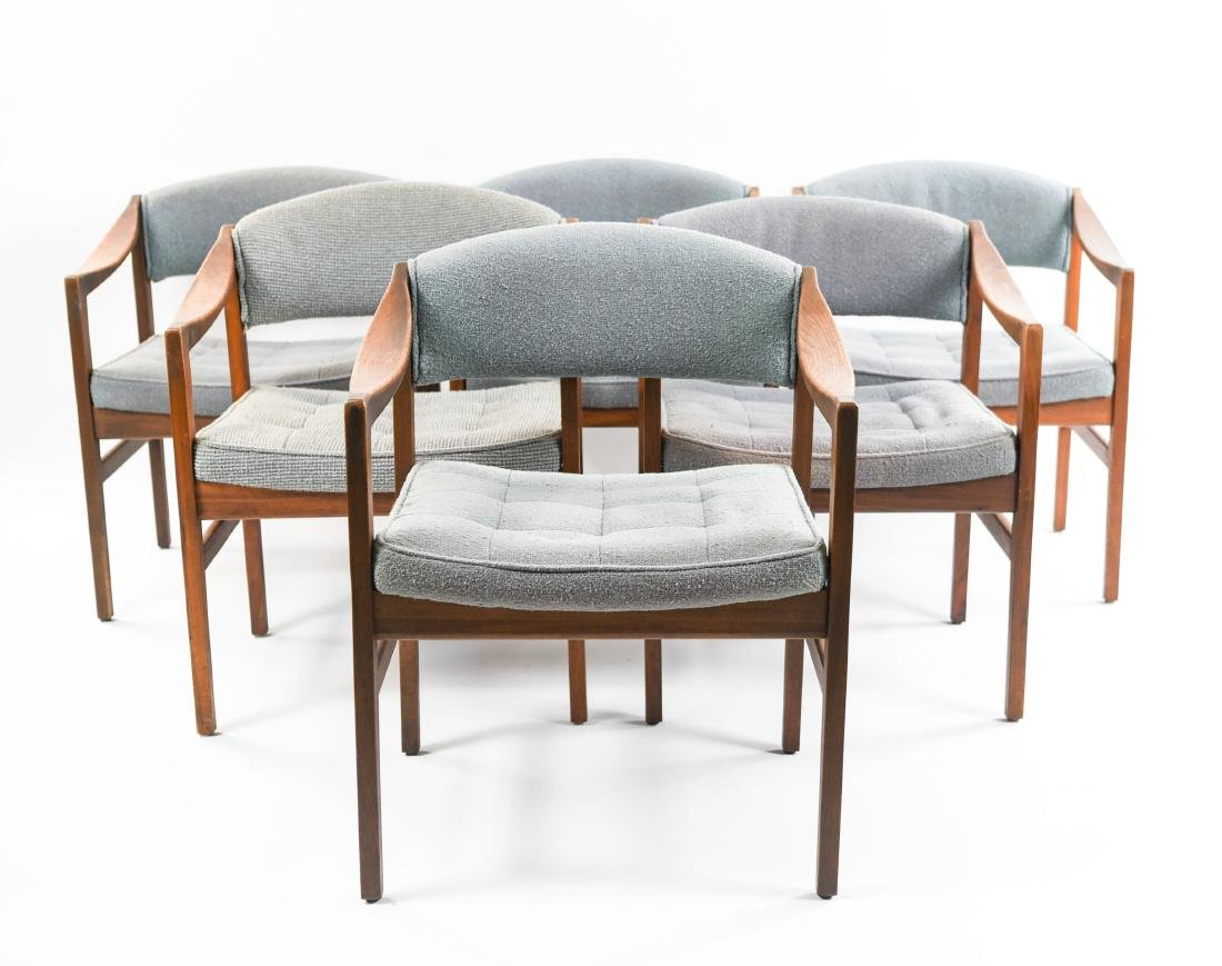 (6) MID-CENTURY UPHOLSTERED ARM CHAIRS CHAIRS - 2