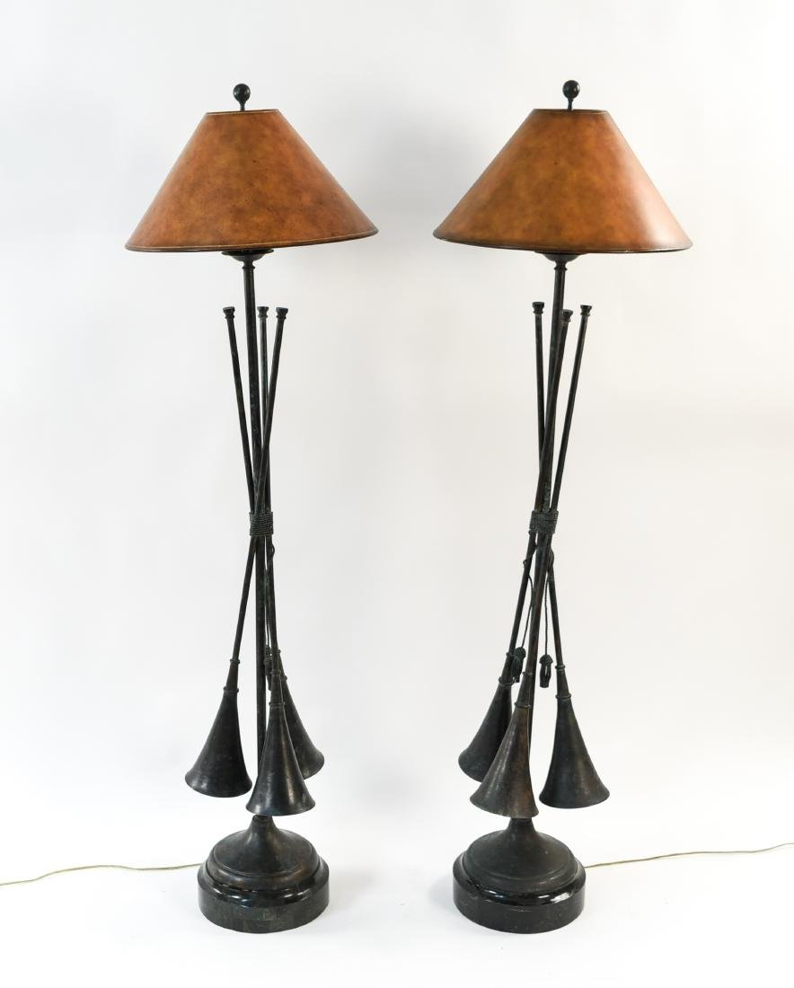 MAITLAND SMITH TRUMPET HORN LAMPS