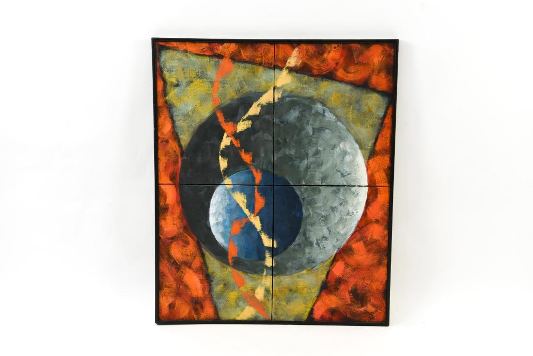 (4) PANEL ABSTRACT O/C PAINTING
