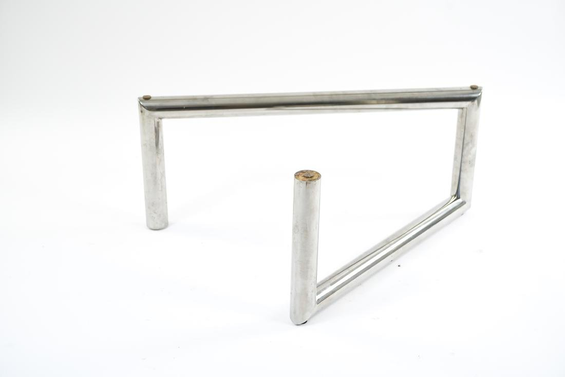 MID-CENTURY TUBE CHROME COFFEE TABLE BASE - 7