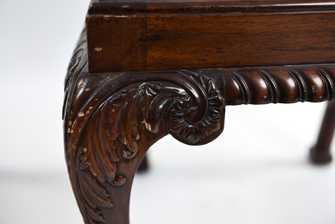 CHINESE CHIPPENDALE STYLE CARVED MAHOGANY CHAIRS - 10