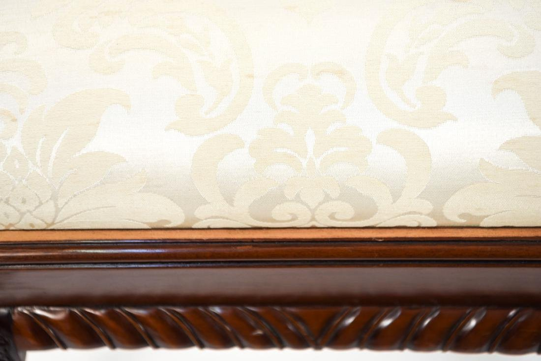 CHINESE CHIPPENDALE STYLE CARVED MAHOGANY CHAIRS - 5