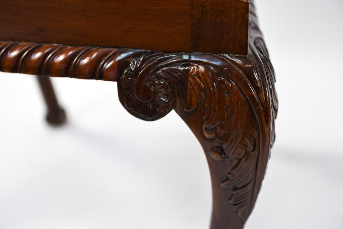 CHINESE CHIPPENDALE STYLE CARVED MAHOGANY CHAIRS - 9