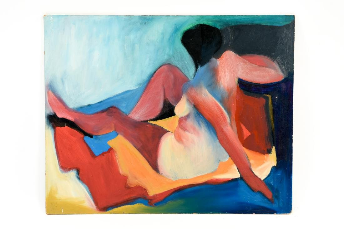 GENE SZAFRAN (AMERICAN 1941-2011) ABSTRACT NUDE