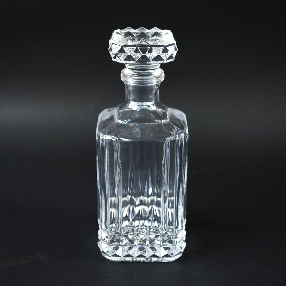 GLASS & CRYSTAL DECANTER GROUPING - 10