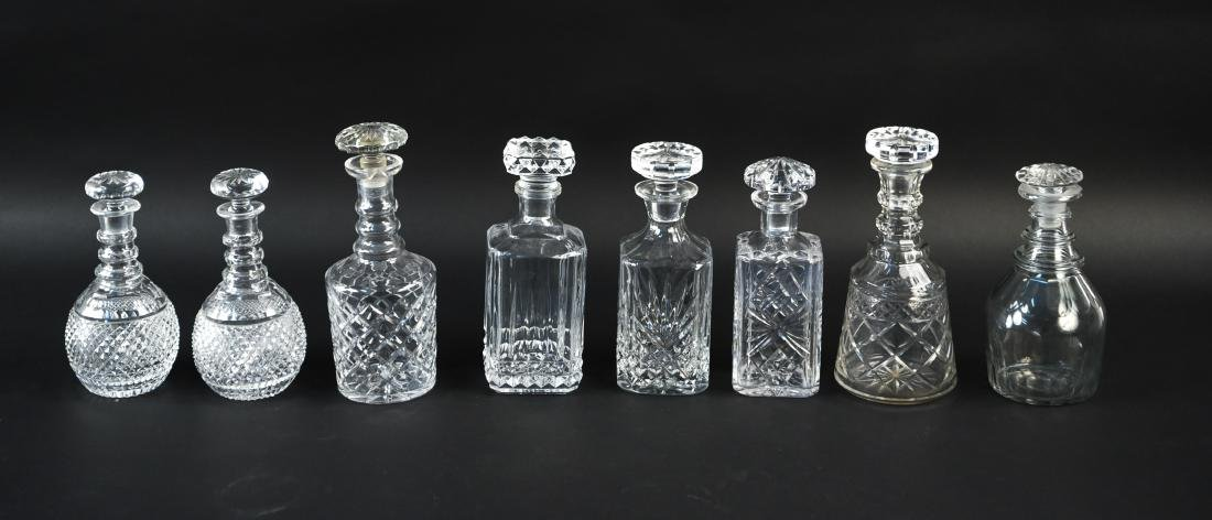 GLASS & CRYSTAL DECANTER GROUPING