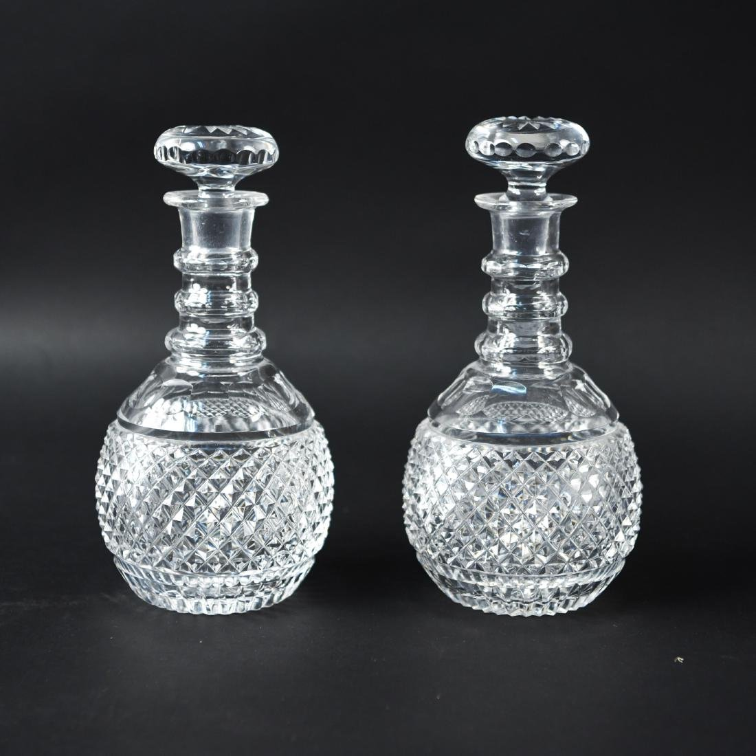 GLASS & CRYSTAL DECANTER GROUPING - 2