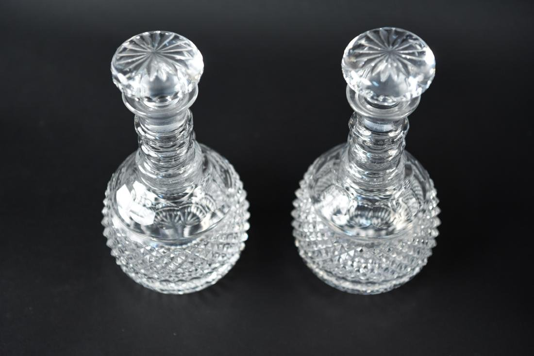 GLASS & CRYSTAL DECANTER GROUPING - 3