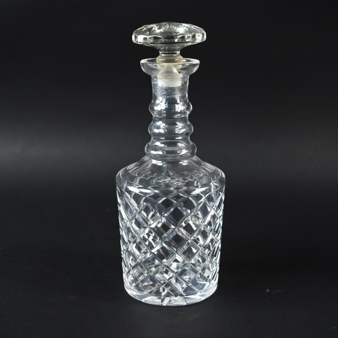 GLASS & CRYSTAL DECANTER GROUPING - 4