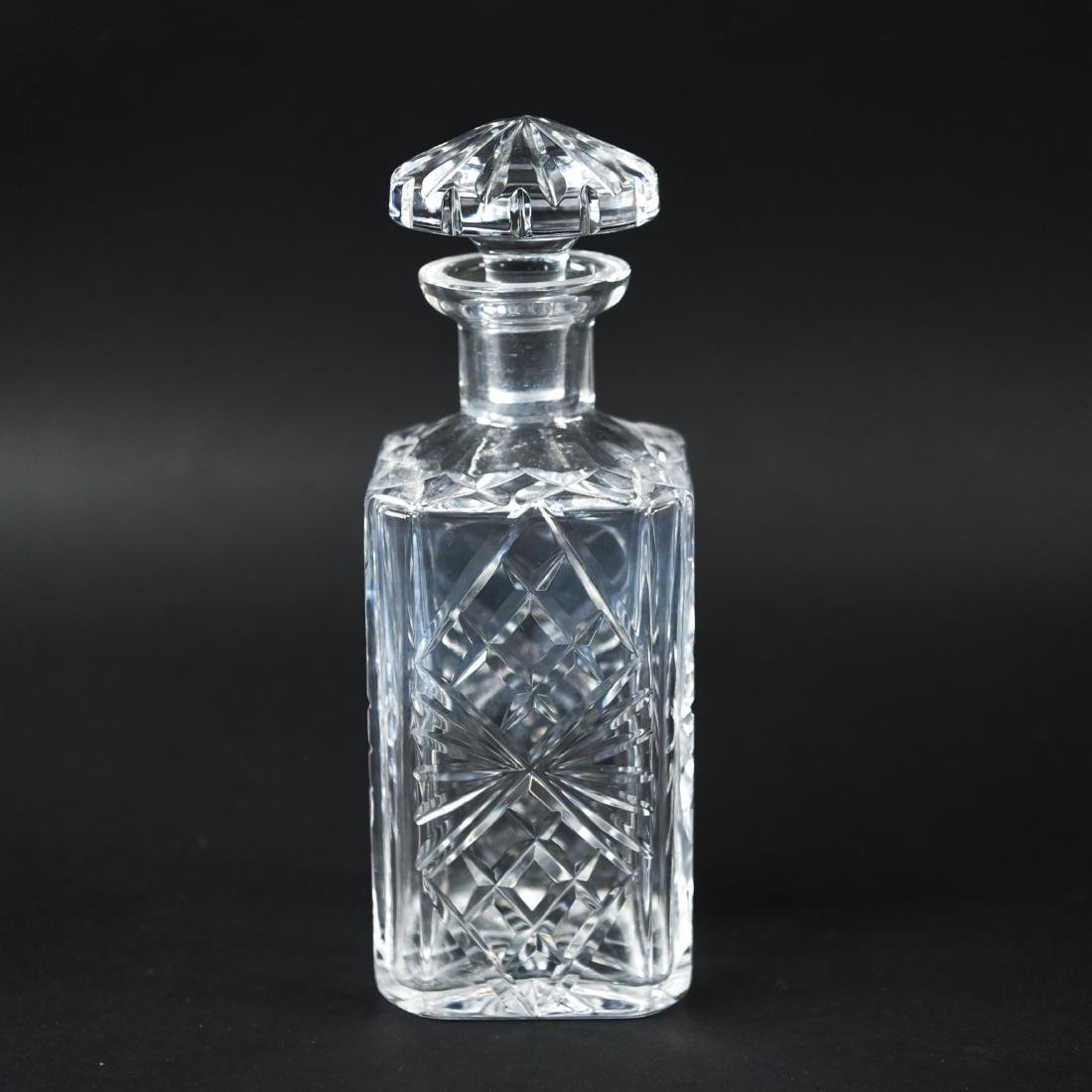 GLASS & CRYSTAL DECANTER GROUPING - 8