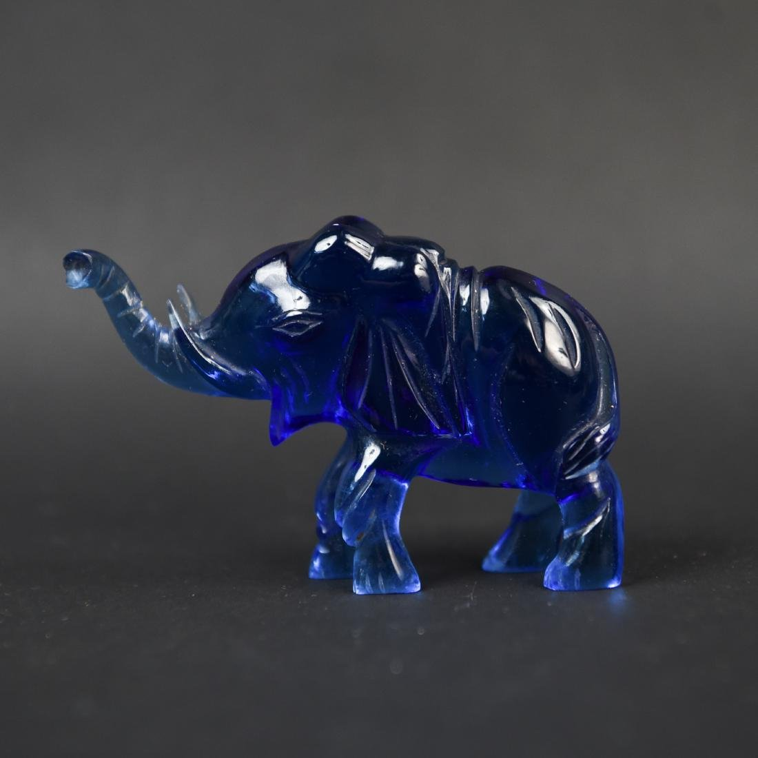 CHINESE CARVED STONE ANIMAL GROUPING - 7