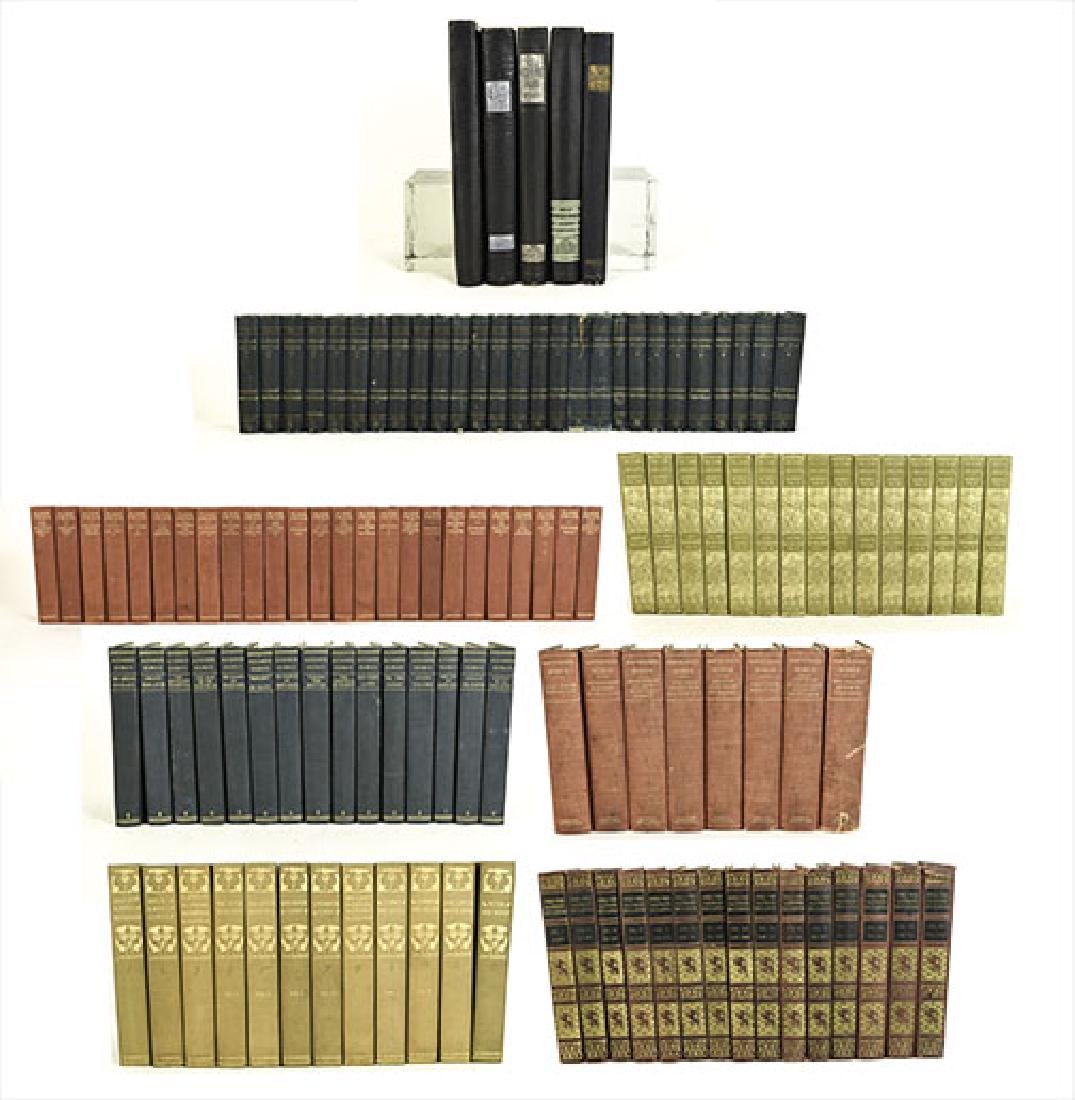 DECORATOR LEATHER-BOUND BOOK GROUPING
